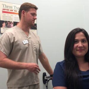 Jacksonville FL Chiropractor - Demonstration of a Side Posture Adjustment